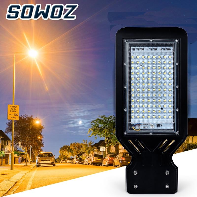 SOWOZ LED Street Lamp 110V 220V IP65 Waterproof Outdoor Lighting Street Light 100W  Lamp Garden Park Industrial Road Wall Lamp