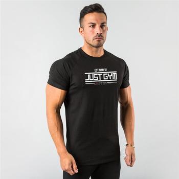 Męskie koszulki do biegania szybka kompresja na sucho t-shirty sportowe siłownia koszulki do biegania koszulki męskie kulturystyka Jersey Sportswear tanie i dobre opinie VQ FITNESS Lato COTTON Pasuje prawda na wymiar weź swój normalny rozmiar