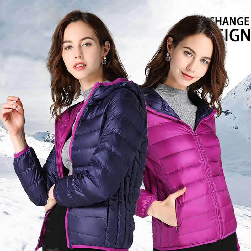 2020 kaczki ultralekka kurtka puchowa kobiet zima gęsie