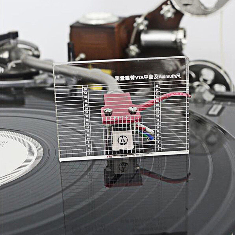 Headshell Balance Acrylic Azimuth Ruler VTA  Lp Measuring Vinyl Record Player Accessories Parts Turntable Phono Tonearm