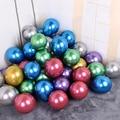 5 дюймовые жемчужные металлические латексные воздушные шары 20 шт./лот, Золотые круглые металлические шары, воздушные шары для дня рождения, ...