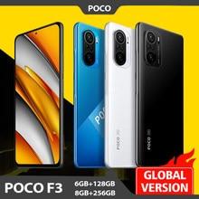 Versão global poco f3 nfc 5g 6gb 128gb/8gb 256gb smartphone snapdragon 870 octa núcleo 6.67
