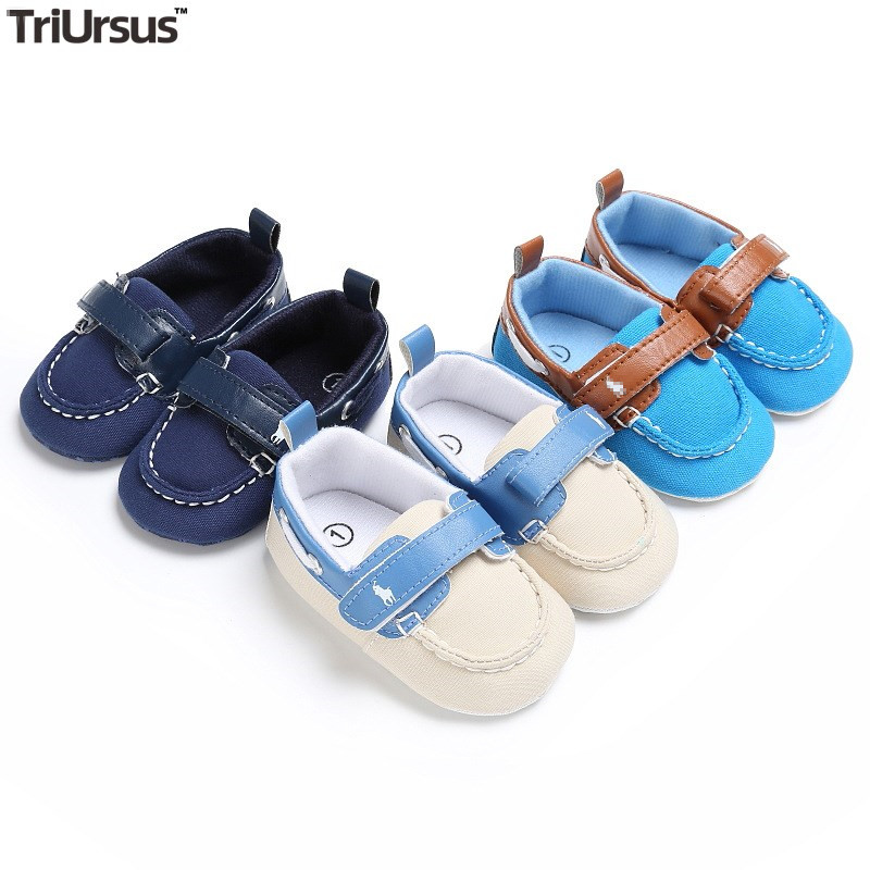 Triursus Brand Baby Boys Girls Peas Shoes PU Cute First Walkers Shallow Baby Shoes Loafers Solid Baby Polo Shoes For All Seasons