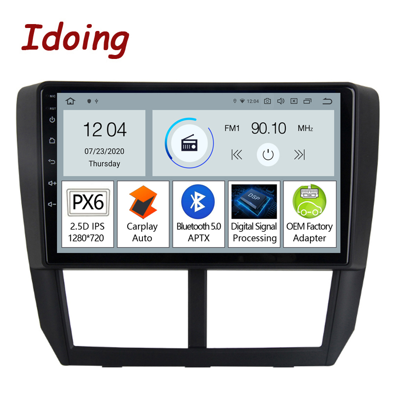 Автомагнитола Idoing PX6, 9 дюймов, GPS-навигатор, для Subaru Forester 3 WRX XV 2007-2014