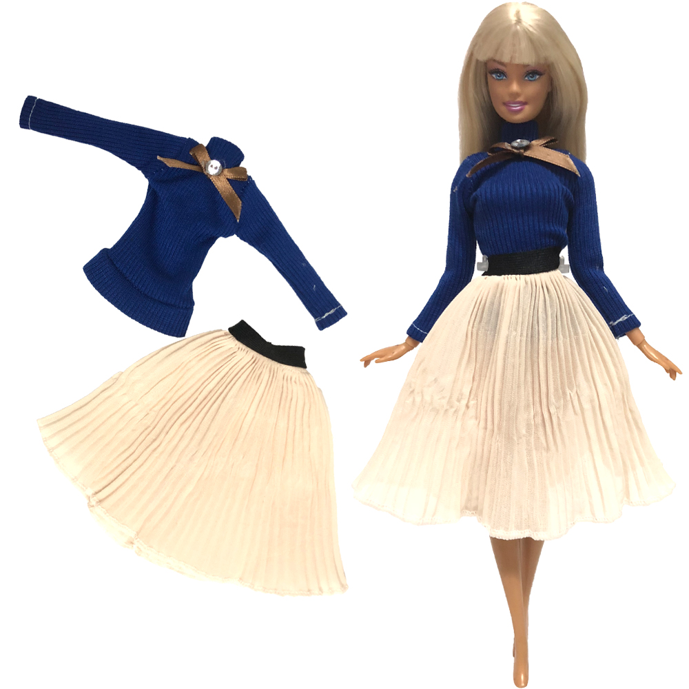 Image 5 - NK Mix Style Princess Doll Dress Top Fashion Outfits Skirt Handmade Clothes For Barbie Doll Accessories Gift Baby Toys  JJ-in Dolls Accessories from Toys & Hobbies