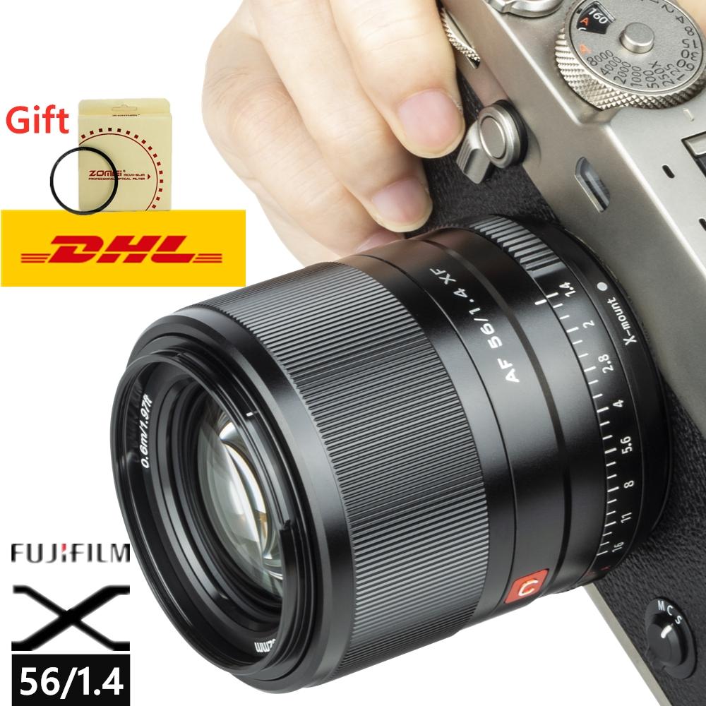 Viltrox 56 мм f1.4 STM автофокусом объектив для цифровой фотокамеры Fuji X Крепление беззеркальных камер X-Pro3 X-T2 X-T3 X-T4 X-T20 XT-30