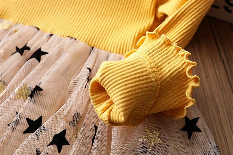 Hefe677ff1db04de19b8752b4b1caf10ag Kids Dresses For Girls Long Sleeve Deer Snowflake Print Dress New Year Costume Princess Dress Kids Christmas Clothes Vestidos