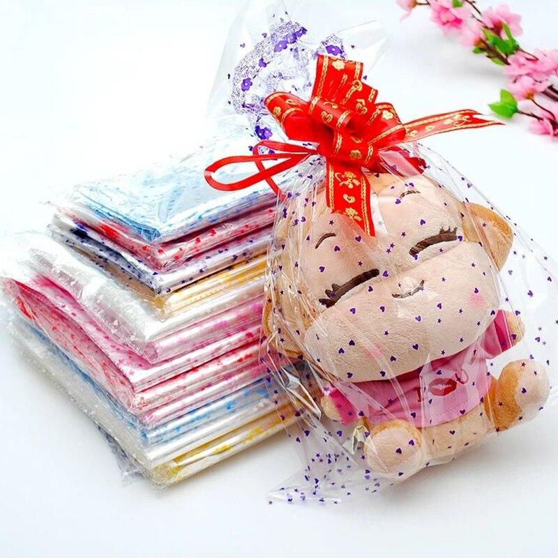 Large Plastic Gift Package Bag 100pcs/lot 4 Sizes Plastic Packaging Bag Clear Cellophane Bag Bakery Gift Packing Bag