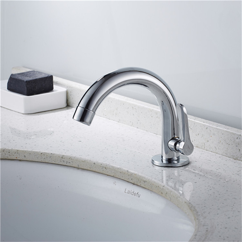 úCloseout DealsMixer Taps Faucet-Tap Basin Deck-Mounted Chrome-Brushed Stainless-Steel Single Sink┴