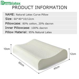 Image 2 - Purenlatex 60x40 tailândia puro látex natural travesseiro de cuidados de saúde pescoço para a coluna do pescoço travesseiro de látex protetor travesseiro ortopédico