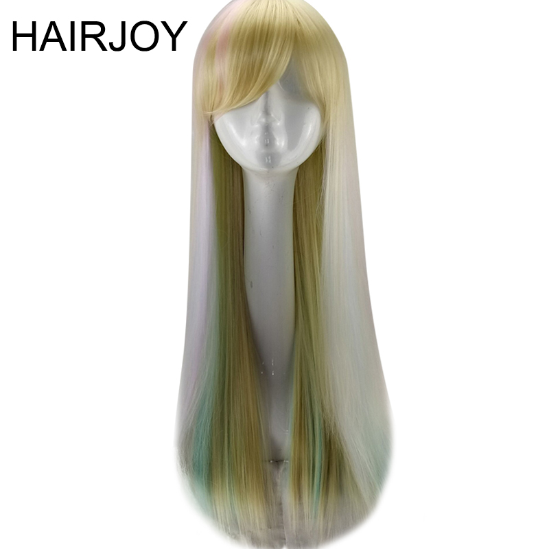 HAIRJOY Synthetic Hair Colorful Cosplay Ombre 75cm Long Straight Harajuku Lolita Wig 1