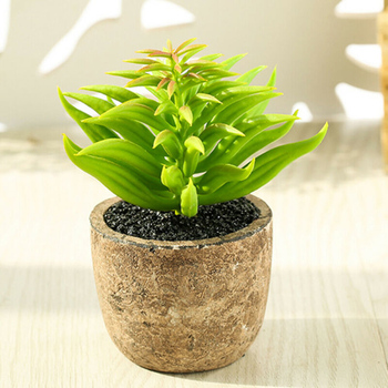 4PCS Artificial Fake Succulent Plant In Pot Mini Potted Plants Home Garden Decor Office Bedroom Living Room Coffee Table