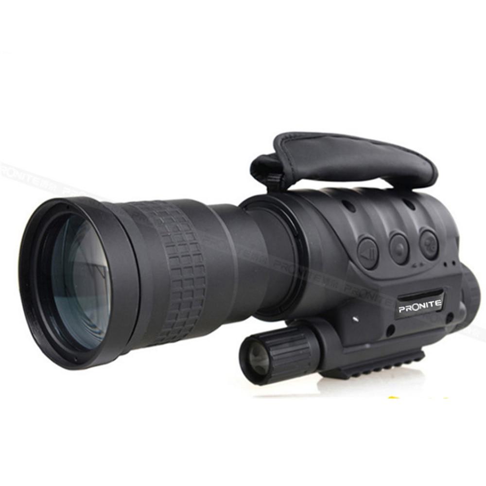 Peonite multi-fonction numérique HD haute définition lunettes de Vision nocturne tube unique prise de vue Photo vidéo tout noir et rouge