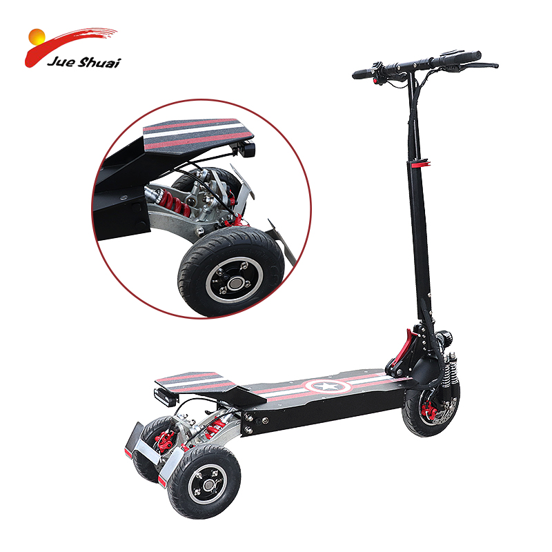 3 Wheels 48V <font><b>1000W</b></font> E <font><b>Scooter</b></font> Front Motor Wheel Electric <font><b>Scooter</b></font> for Adults 80KM Distance Folding Electric Skateboard Hoverboard image