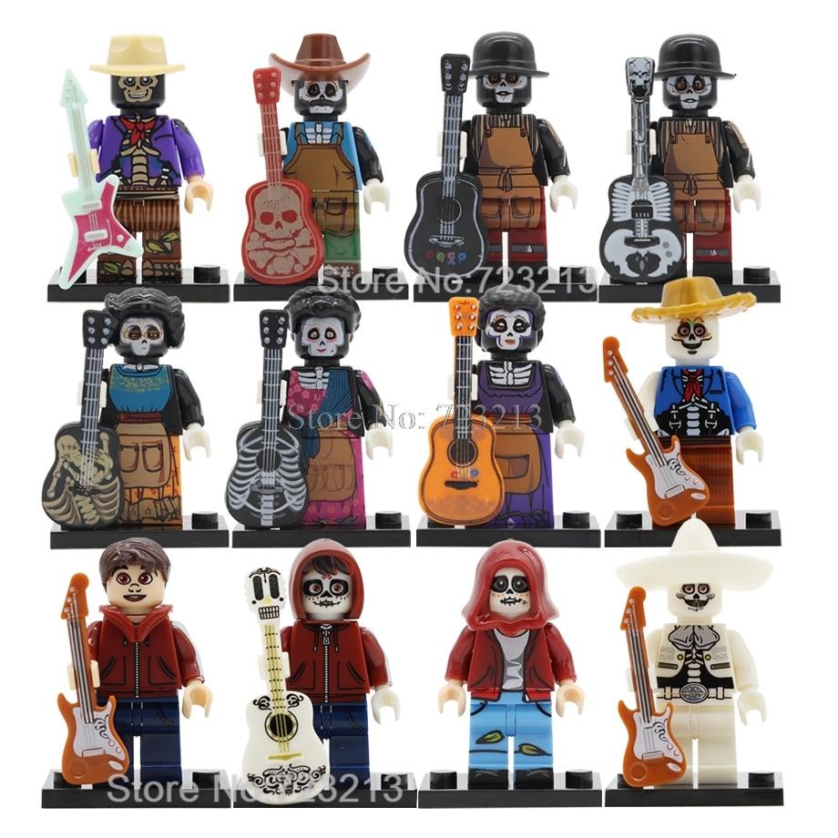 Single Cartoon Movie Coco Family Figure Imelda Hector Miguel Set Rosita De La Cruz Building Blocks Kits Brick Toys Legoing