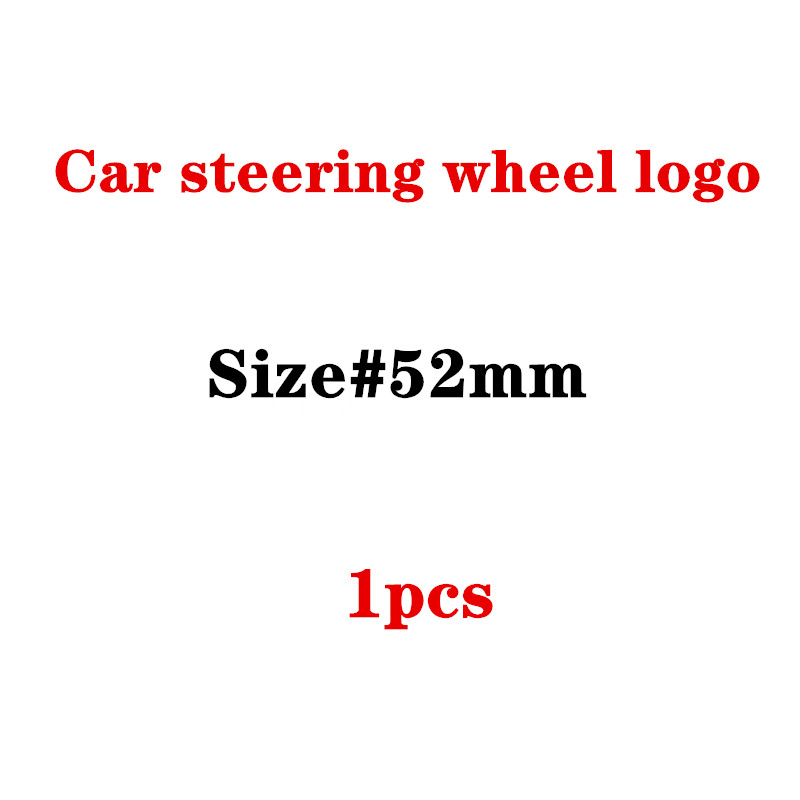 52mm Steering Wheel Center Emblem Apple Tree Star Logo Car Styling Modified Badge For Mercedes Benz AMG Lorinser Brabus