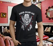 New Popular DAVID ALLAN COE POSTER Mens Black T-shirt Size Summer Short Sleeves Fashion T Shirt Free Shipping High Quality