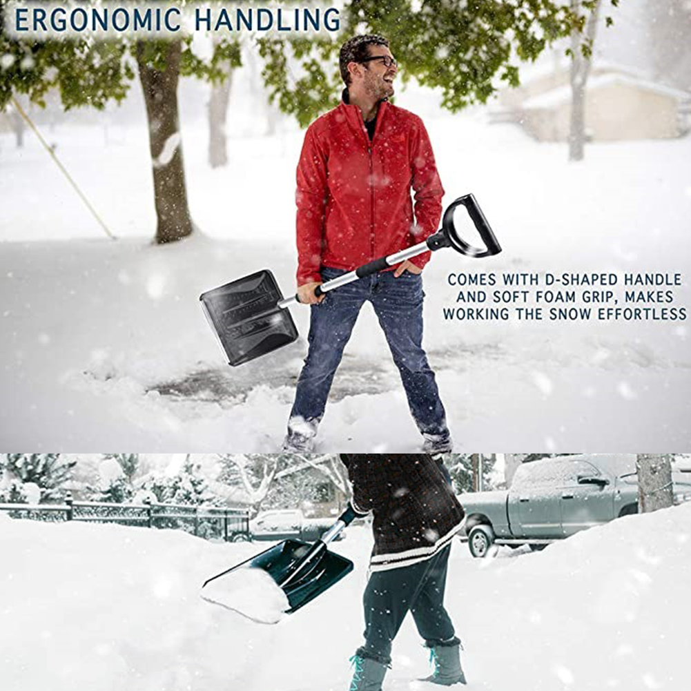 Tools : 3 In 1 Portable Emergency Ice Scraper Cleaning Tools For Car Outdoor Activities Brush Truck Snow Shovel Kit Multifunctional