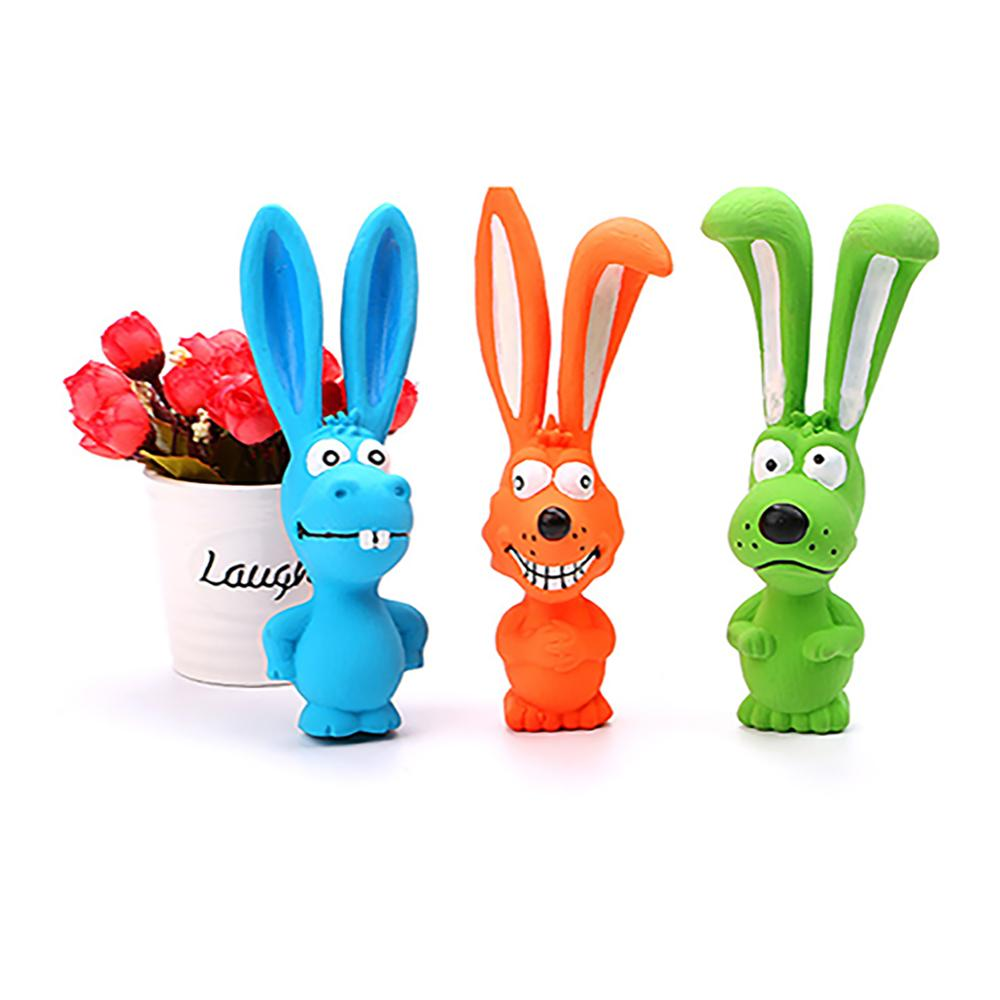 Hot Cute Toy for Pet Dogs Puppy Screaming Rubber Rabbit Toy Latex Squeaker Chew Training Tools Pet Products Pets Toys in Dog Toys from Home Garden