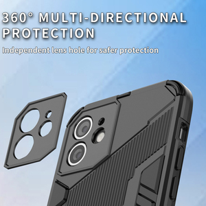 Image 4 - For Oppo Reno5 Pro 5G Case Cover Shockproof Silicone Bumper Stand Holder Armor Hard Phone Back Cover For Reno 5 Pro 5G Casing