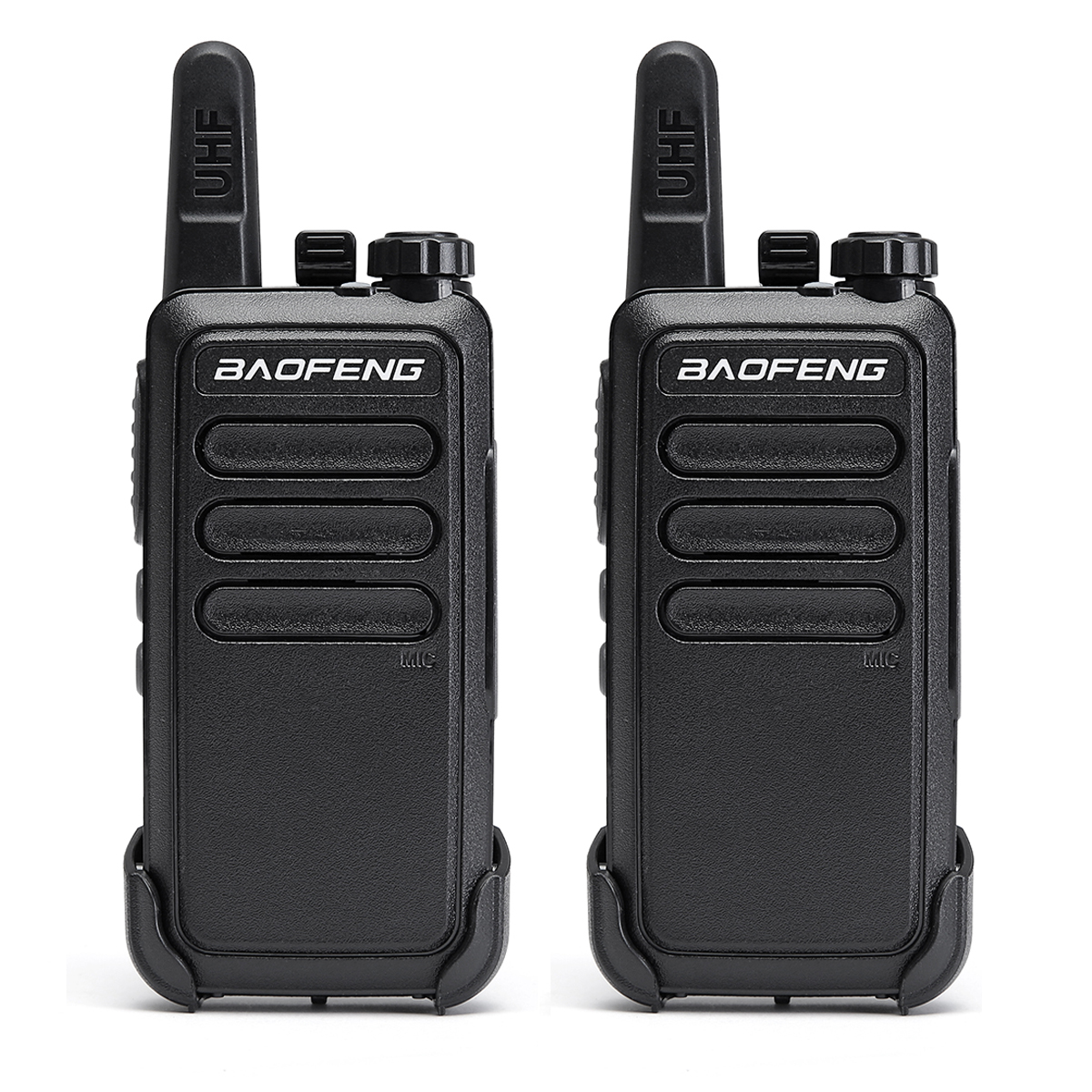 2 Pcs Baofeng BF C9 Portable Radio Mini Walkie Talkie 400 470MHz UHF VOX USB Charging Handheld Two Way Ham Radio CommunicatorWalkie Talkie   -