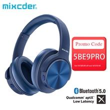 Mixcder E9 PRO aptX LL Kopfhörer Drahtlose Bluetooth Aktive Noise Cancelling Kopfhörer USB Schnelle Lade mit MIC Blau Headsets