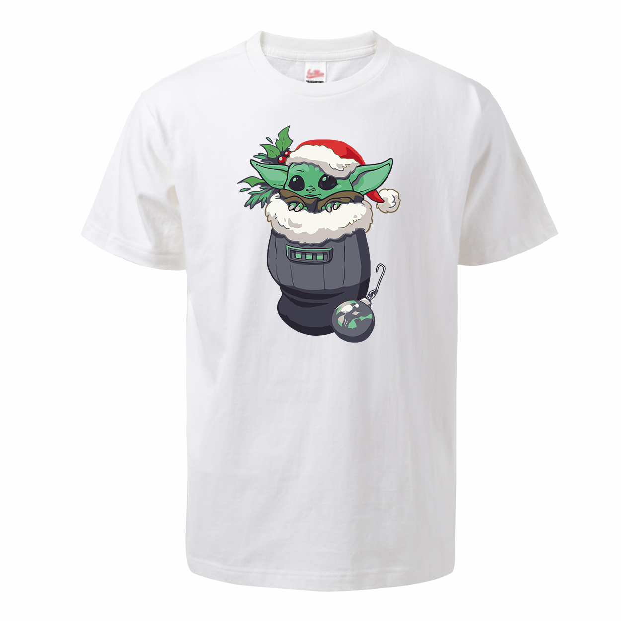 Baby Yoda The Mandalorian Men's Summer <font><b>Tshirt</b></font> 100% Cotton Round Neck Cute Yoda T-shirt <font><b>Christmas</b></font> Tops Tees <font><b>Star</b></font> <font><b>Wars</b></font> Streetwear image