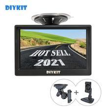 """DIYKIT Monitor de visión trasera para coche con ventosa y soporte gratuito, Monitor de 800x480, pantalla LCD TFT de 5 """", HD"""