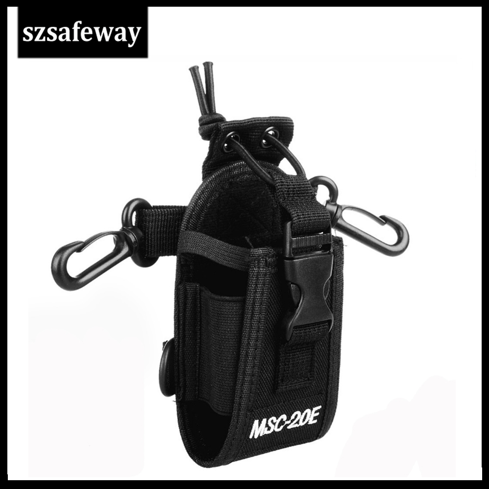MSC-20E Nylon Radio Pouch Carry Case Handsfree Holder For Motorola GP340 GP328 GP68 GP88 For Baofeng UV-5R UV-82