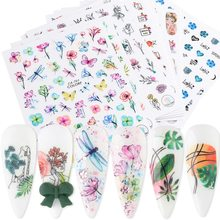 New manicure 3D adhesive stickers spring and summer natural flowers simulation dried flowers color nail decals