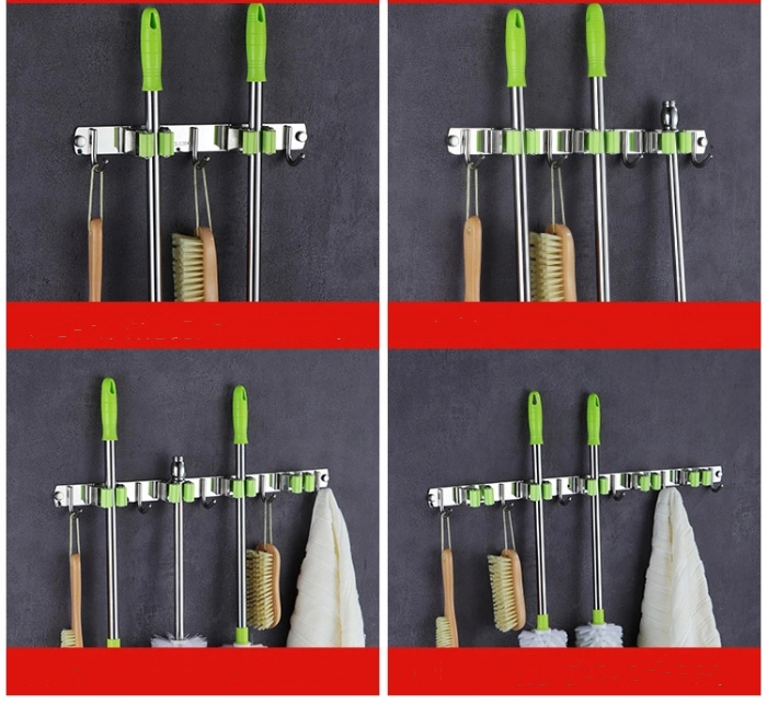 Broom Hanger Clips For New Hanging Bathroom And Kitchen Organizer Tool 5