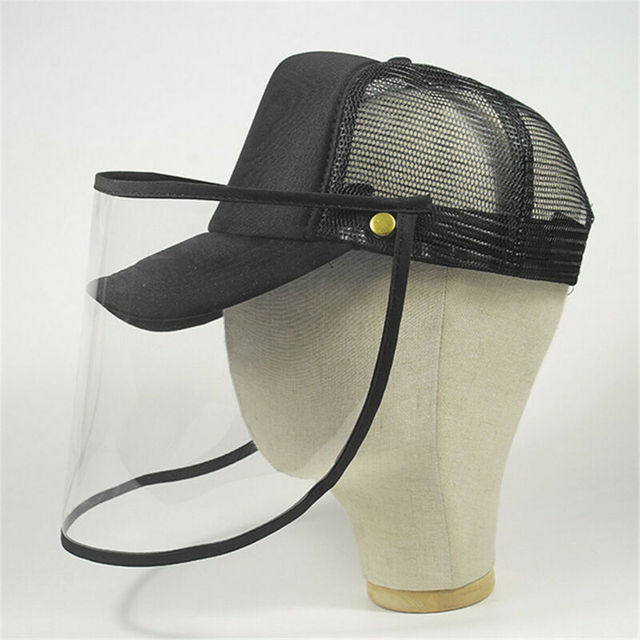 Brand New Transparent Anti Saliva Hat Splash Dust Proof Full Face Shield Anti-fog Anti-Virus Protection Mask