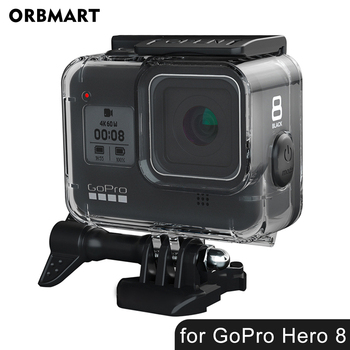 цена на 60m Underwater Waterproof Case for GoPro Hero 8 Protective Shell Cover Housing Black Camera Lens Protective Cover Housing Mount