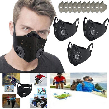 Activated carbon dust mask outdoor cycling mask dust mask anti-pollution respirator PM2.5 dust-proof safety mask can be washed image