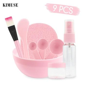 KIMUSE 9 PCS Face Mask Bowl Brush Spoon Stick Beauty Make up Set For Facial Mask Tools Women's Makeup Tool Kits pincel maquiagem