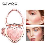 O.TWO.O Highlighters Maquiagem Em Pó Natural Forma de Coração Kit Brilho Iluminador Shimmer Paleta Marcador Alta Pigmentos Cosméticos