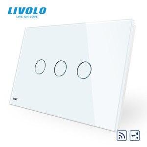 Image 3 - Livolo US C9Standard مفتاح حائط يعمل باللمس ، مقاطعة مع مؤشر LED ، جهاز التحكم عن بعد ، لوحة زجاج كريستال