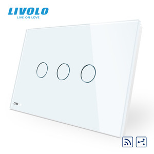 Image 3 - Livolo US C9Standard Wall Touch Switch, interruptor with LED indicator, remote cross control,Crystal Glass Panel