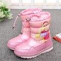 Зимние водонепроницаемые детские сапоги; красивые зимние сапоги для девочек; Мультяшные сапоги; толстая детская хлопковая обувь