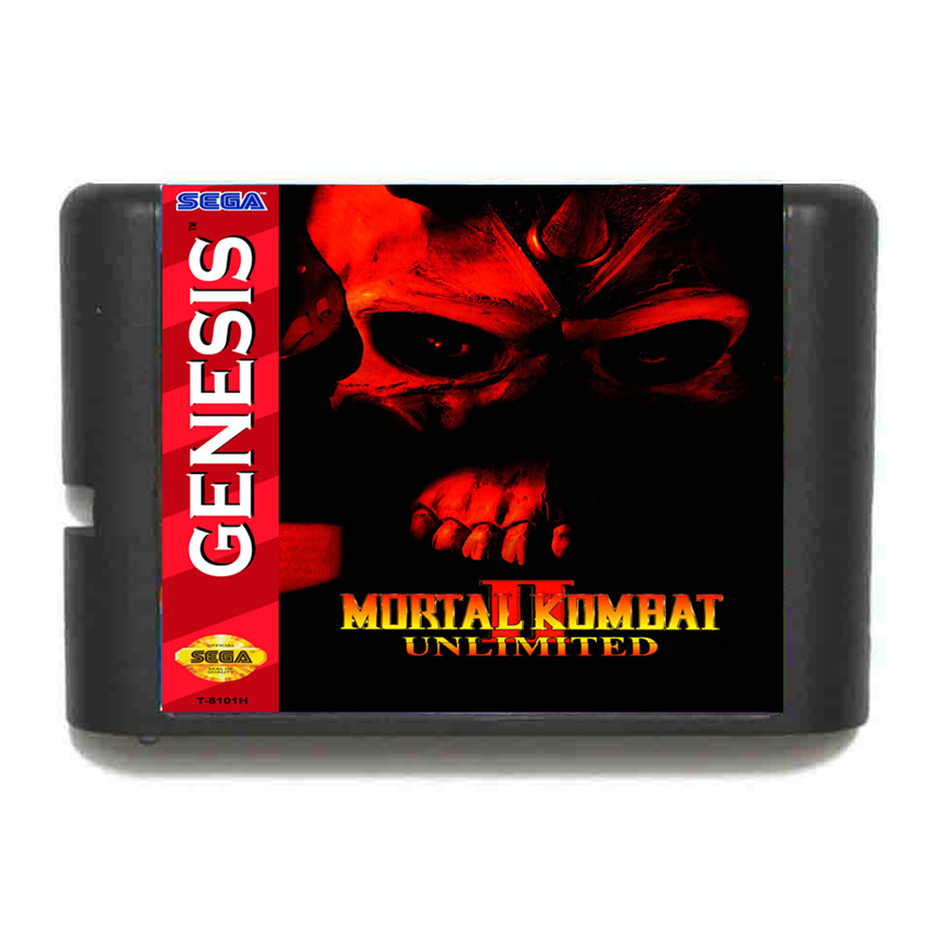 Mortal Kombat II Unlimited 16 Bit Game Card For Sega Mega Drive & Sega Genesis image