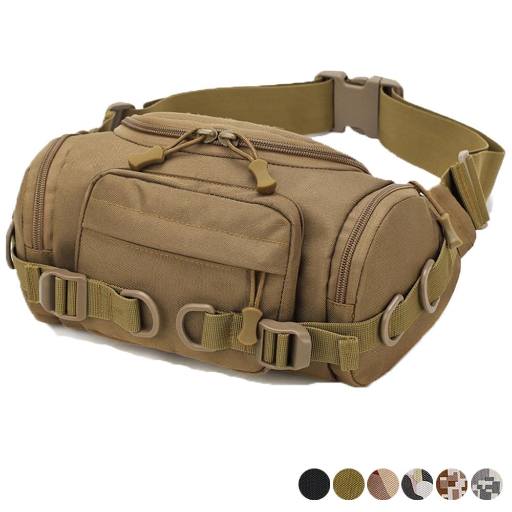 Tactical Waist Pack Fanny Bag Military Crossbody Shoulder Messenger Pack Outdoor Hunting Hiking Multifunctional Storage Bag