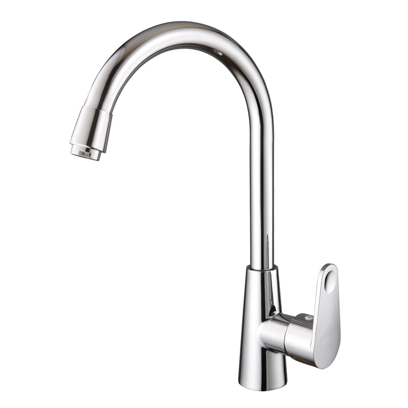 Kitchen Faucet Sink Mixer Tap Swivel Spout Faucet Modern Swivel Copper Single Hole Kitchen Faucet Cold and Hot Water Mixer Tap