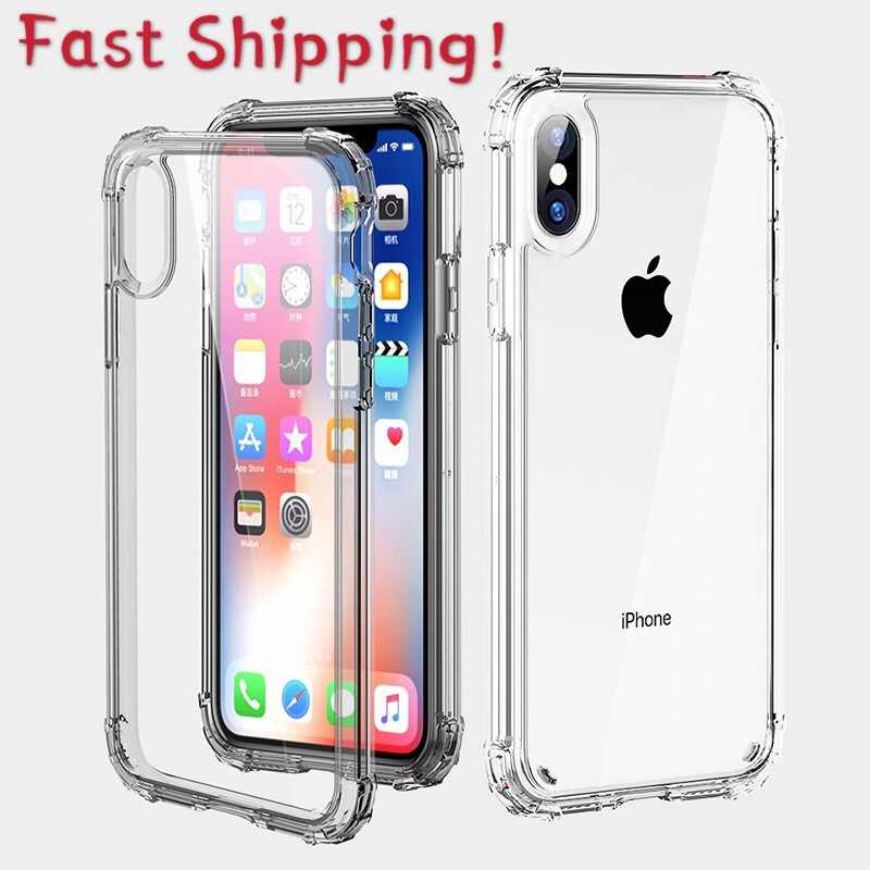 Ultra Thin Clear Silicone Telefoon Case Voor Iphone 11 Pro Xs Max Case Voor Iphone Xr X 7 8 6 6S Plus Soft Tpu Transparant Back Cover