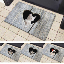 все цены на Cute Cat Floor Mat Washable Kawaii Cat Rug Bath Mats Foot Pad Home Decor Non-Slip Kitchen Bathroom Living Room Mats