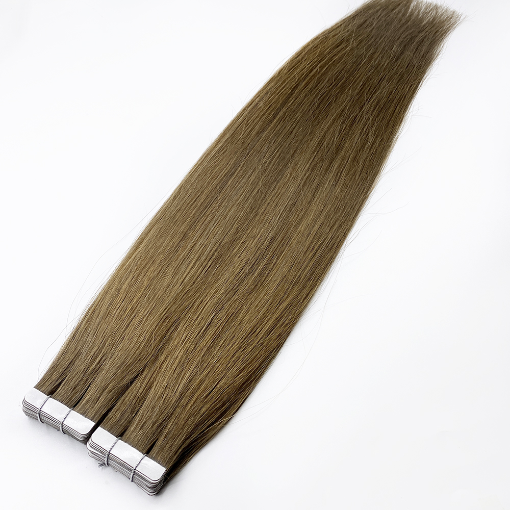 100% Remy Natural Human Hair Various Colors Tape Hair Extensions for Salon