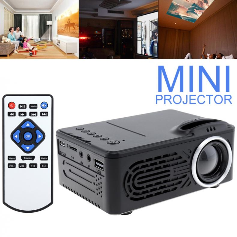 <font><b>Mini</b></font> <font><b>HD</b></font> Portable LED Homehold <font><b>Projector</b></font> Support 80 Inch Large Screen Projection with Remote Control for Home image