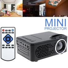 Mini HD Portable LED Homehold Projector Support 80 Inch Large Screen Projection with Remote Control for Home