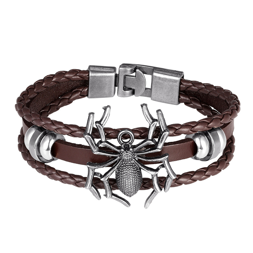 Vampire Spider Leather Bracelet Cuff