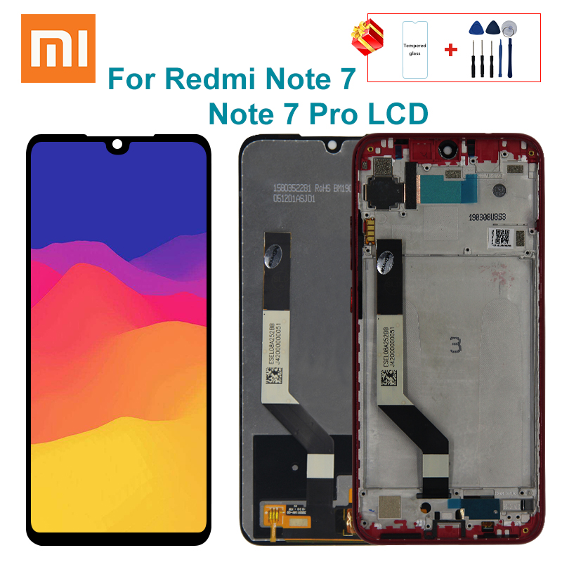 10 touch display for xiaomi redmi note 7 lcd display touch screen with frame for redmi note 7 pro lcd note7 replacement parts