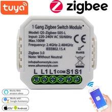 Módulo de interruptor inteligente Tuya Life ZigBee para el hogar, herramienta de interruptor de luz inalámbrico, No/con neutro, Compatible con Alexa